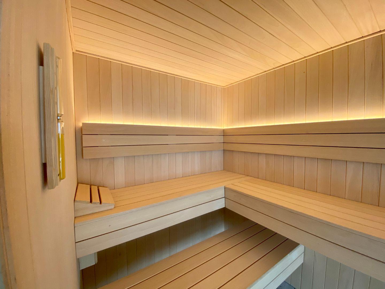 Sauna vista interior
