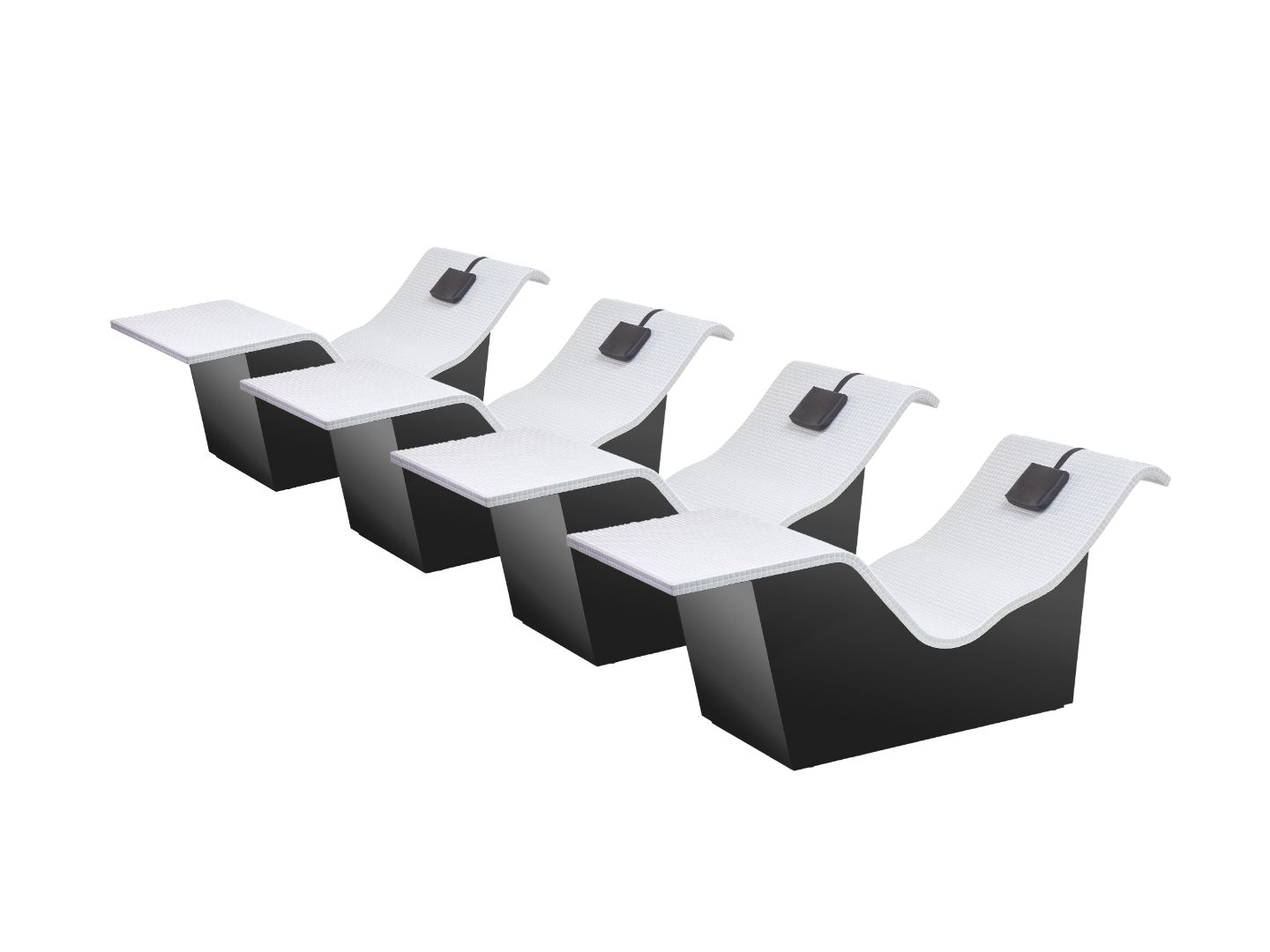 Heated Lounger Compact B White